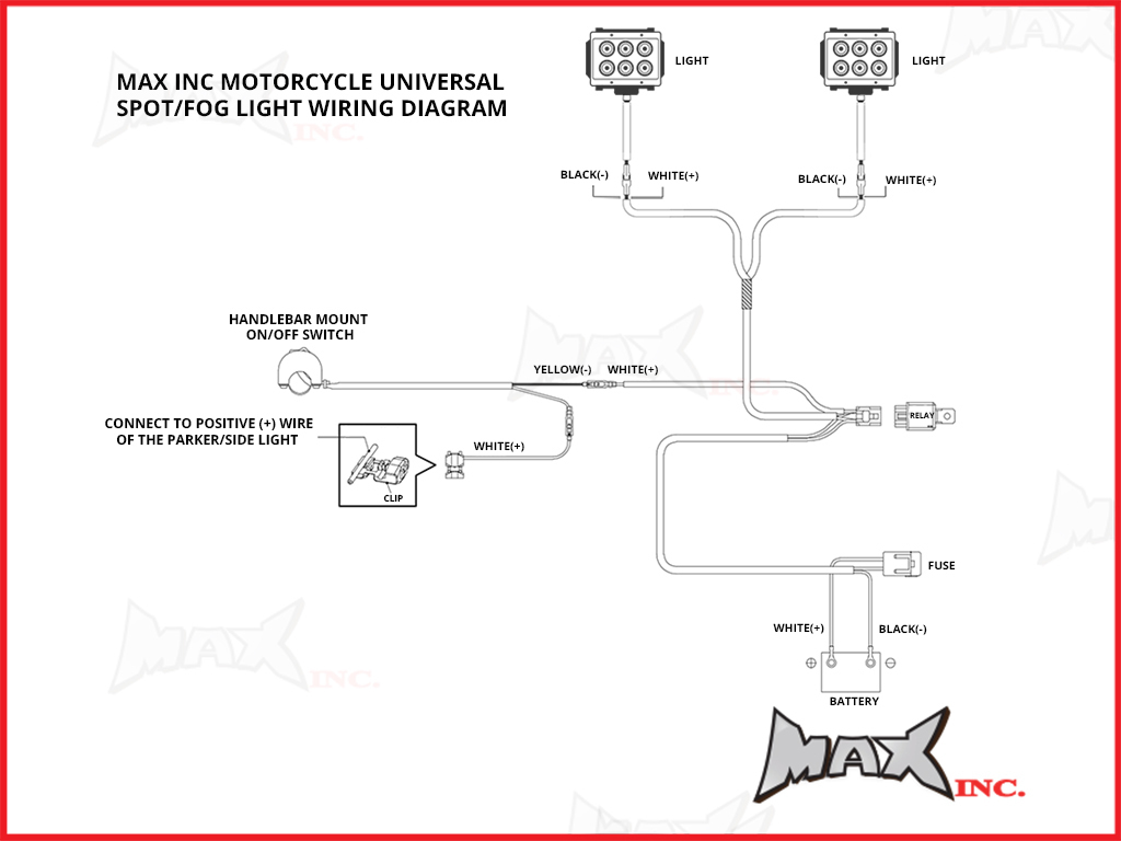 Motorcycle Driving Light Wiring Diagram Will Be A Hid Universal 18 Watt Cree Led Spot Reverse Headlight