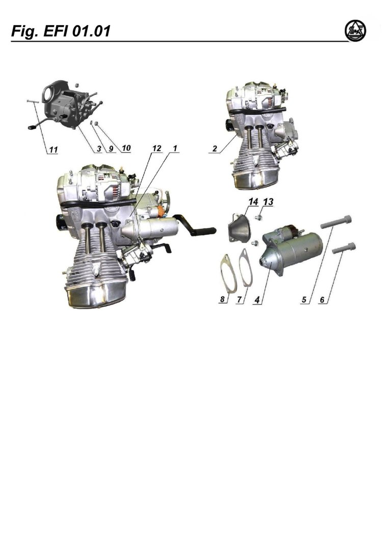 Engine with gearbox, with trottle bodys, with generator,