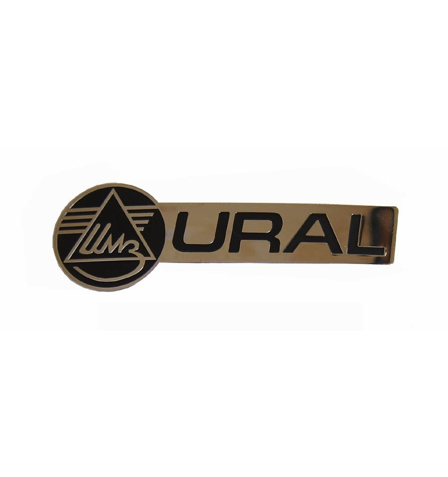 URAL LOGO GASTANK STICKER, CHROME LEFTSIDE