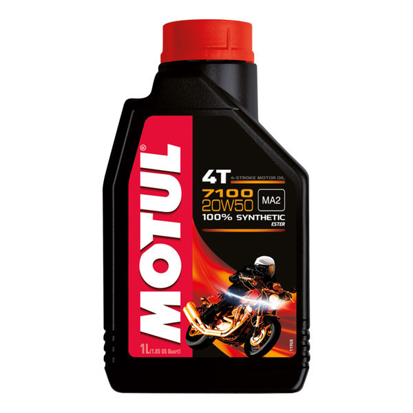 Huile 4T 7100 20W50 1L Motul 100% SYNTHESE